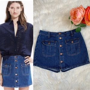 Madewell Denim Button Down Shorts Kirt